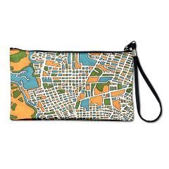 Mexico, Tampico Clutch Bag with city map design from JilliansBareMadness, a #DEAF14 artist.