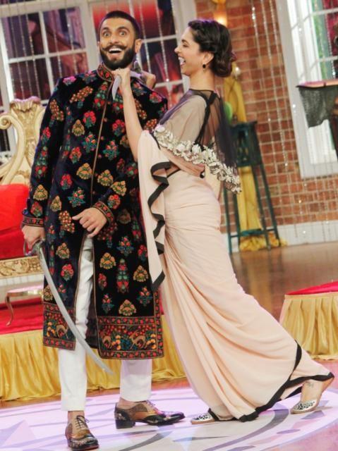 Deepika and Ranveer Singh ♥ #BajiraoMastanipromotions #BajiraoMastaniOn18Dec