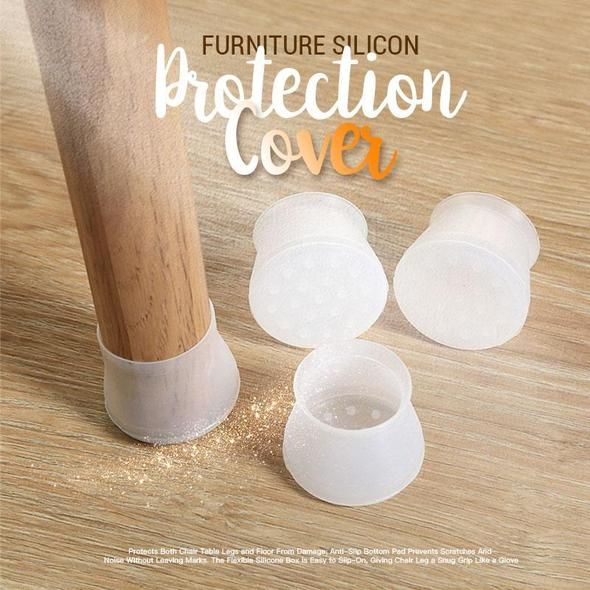 Furniture Silicon Protection Cover Cleancults In 2020 Chair Legs Floor Protectors Table Legs