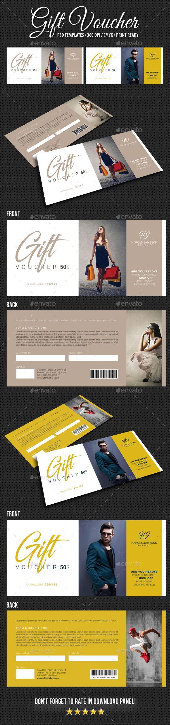 Gift Voucher V12 - Cards & Invites Print Templates