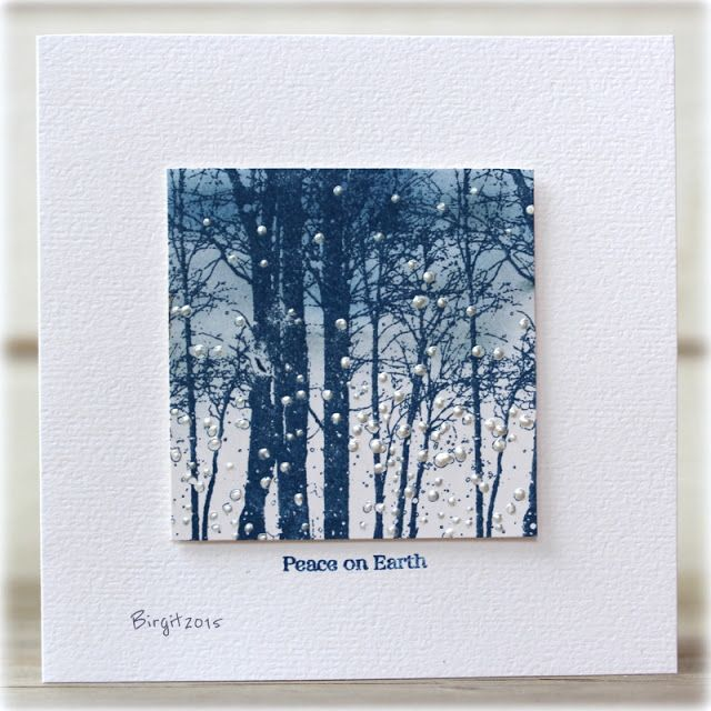 Penny Black Snowy Grove/looks like indigo blue bare forest sweet