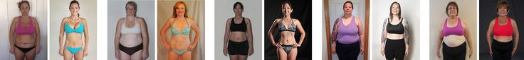 A whole slew of women's body transformations thanks to Precision Nutrition!