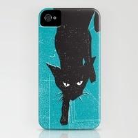 Black Kat -   iPhone Cases by Print Mafia | Society6: Ipods Cases, Iphone Cases, Hard Cases, Coolest Iphone, Cases Features, Buying Black, Black Kat, Prints Mafia, Kat Iphone