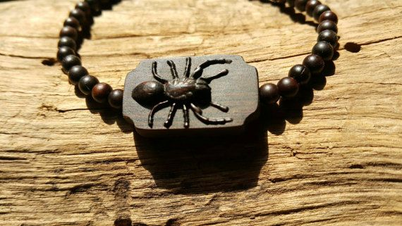 Check out this item in my Etsy shop https://www.etsy.com/listing/499295986/spider-braceletwooden