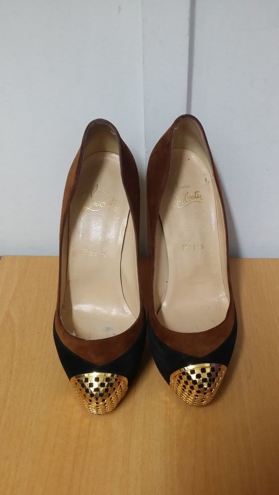CHRISTIAN LOUBOUTIN MAGGIE 140 SHOES GENUINE **CHARITY AUCTION**