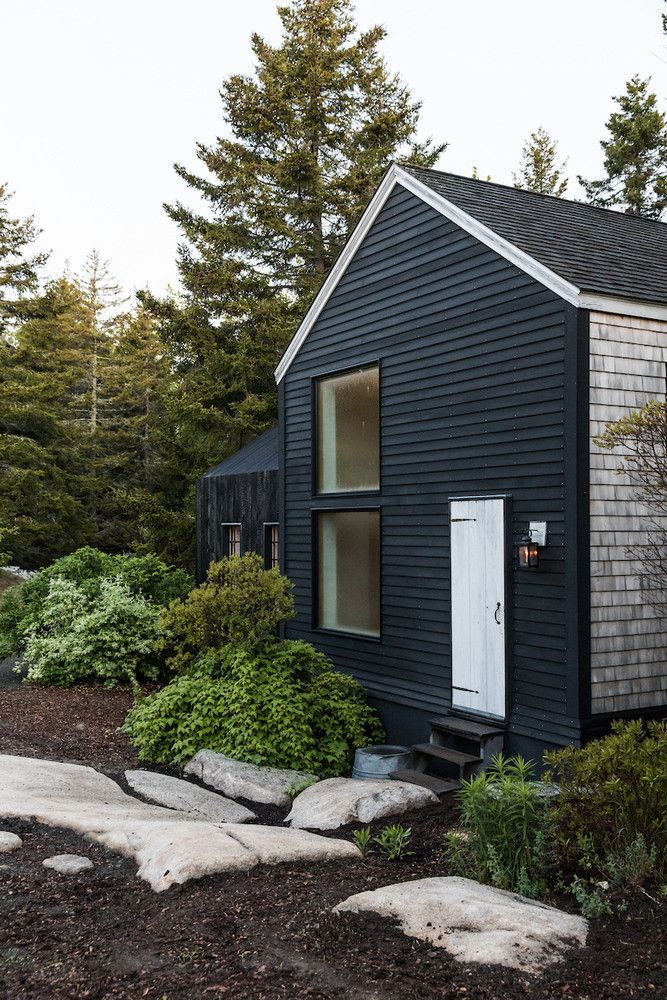 This Tiny Home In Maine Is Small Space Living Goals Small House Exteriors House Designs Exterior Black House Exterior