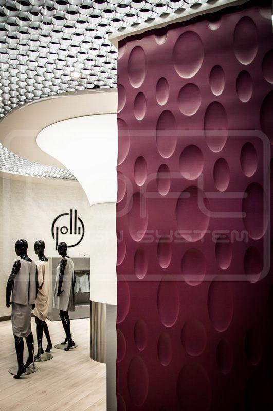 Decorative Panels 3D - Loft Design System - Model 4 - ELLIPSE. Three dimensional panels LOFTSYSTEM in the showroom of polish designers!!!
