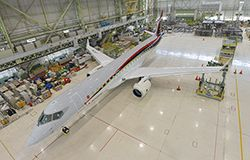 The MRJ is Japan's first attempt at a commercial jet aircraft.