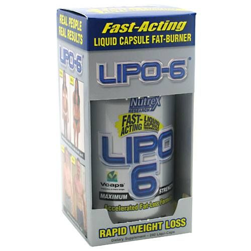 LIPO-6 by Nutrex is a powerful and extremely popular fat-burner that utilizes maximum strength liquid capsules for superior absorption and rapid results.