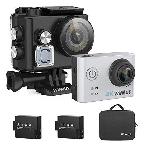 Underwater Camera, WiMiUS L2 Action Camera 4K Helmet Camera Sports Cam Wifi HD Sony Sensor (Silver) //Price: $89.99 & FREE Shipping //     #gopro