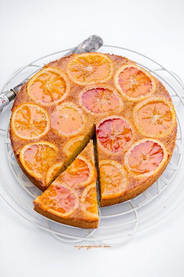 Klejące ciasto z pomarańczami