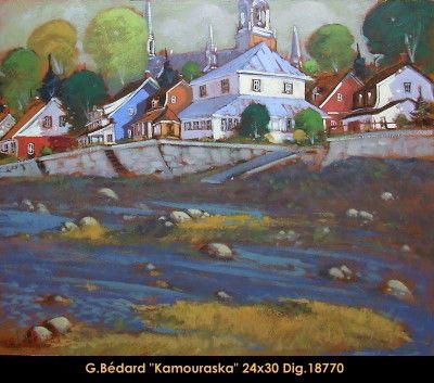Original mixed media painting on canevas by Gilles Bedard #GillesBedard #artist #art #mixmediapainting #artist #originalpainting #fineart #canadianartist #quebecartist #summer #city #shadows #light #multiart #balcondart