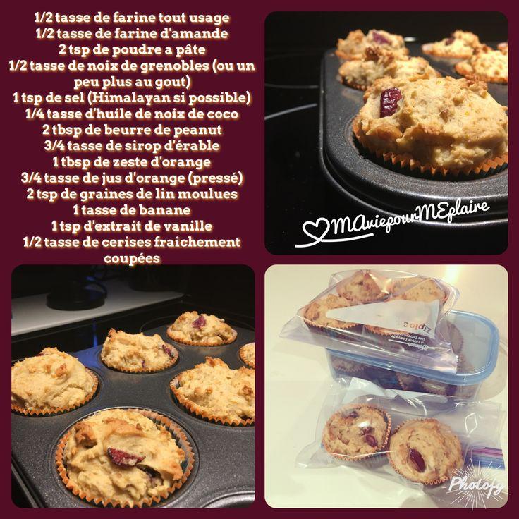 Muffins cerises & oranges