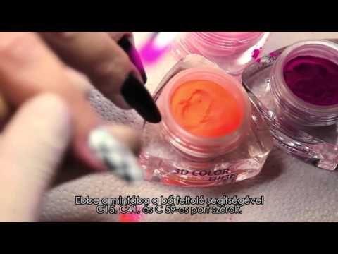 Neon színátmenetes köröm Marton Bettinától - Műköröm Videó