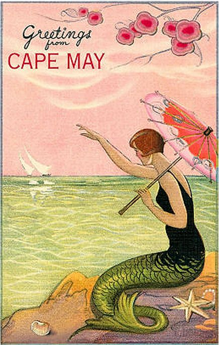 I like the way the 1920's bathing suit merges into the mermaid's tail #vintagemodesty