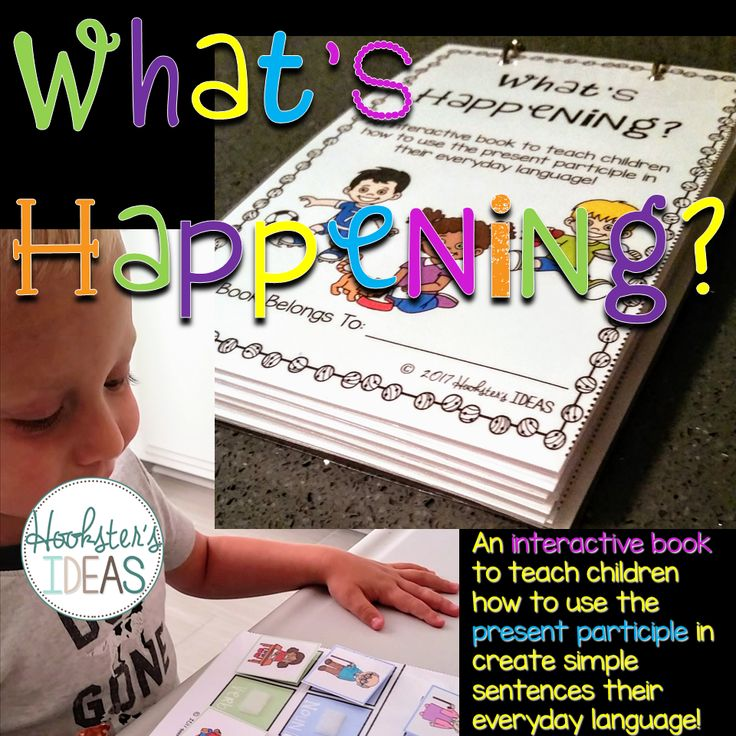 This interactive book is great for helping little ones combine words together to make short phrases and sentences.