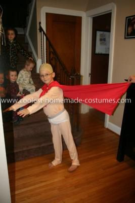 Homemade Captain Underpants Costume: This Homemade Captain Underpants Costume was made by myself completely. I used a white pair of thermal underwear dyed flesh colored. Foam padding sewed