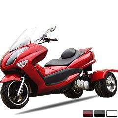 motor scooter | Trike Gas Motor Scooters 150cc Touring Style Moped etails Item No.	MC_TS11 List price:	$5,899.00 Price:	$2,229.00  Shipping and Handling: $299.00