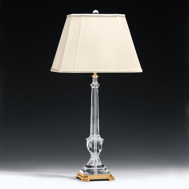 French neo classic brass crystal table lamp