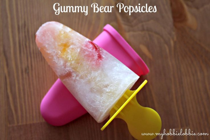 Gummy Bear Popsicles ... just 2 ingredients Sprite and some Gummy Bears ... yummy!