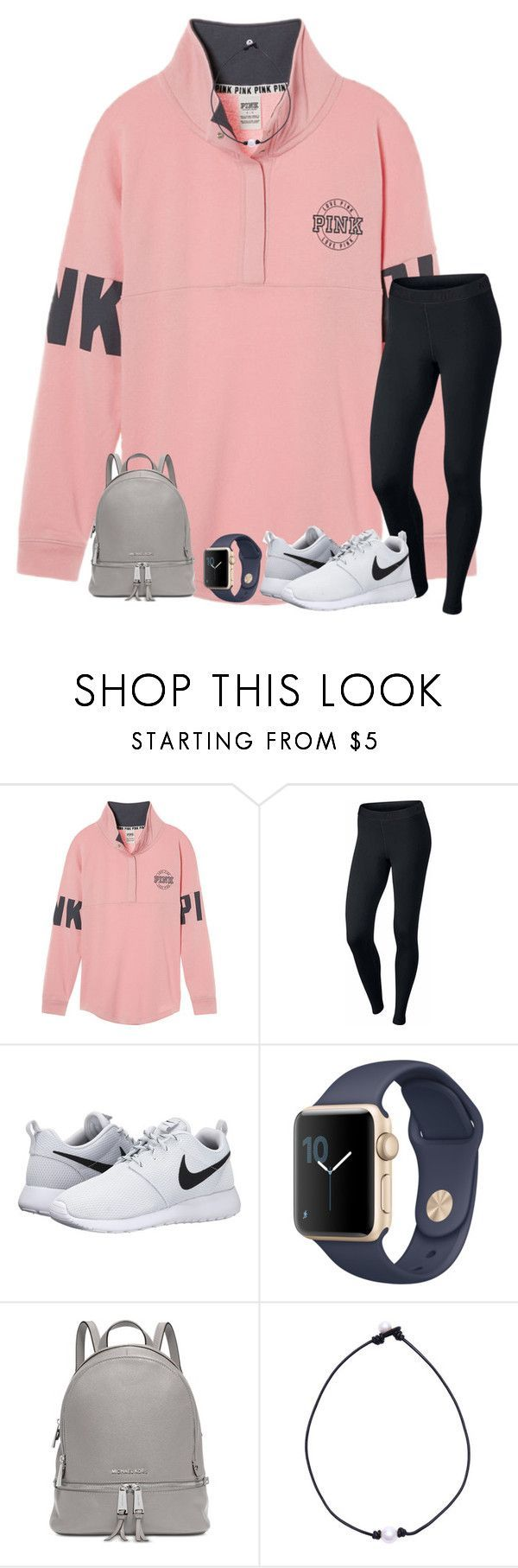 """""""rtd"""" by ctrygrl1999 ❤ liked on Polyvore featuring Victoria's Secret, NIKE and Michael Kors"""