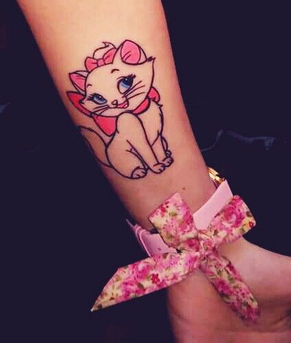 Marie Disney Aristocats Tattoo <3