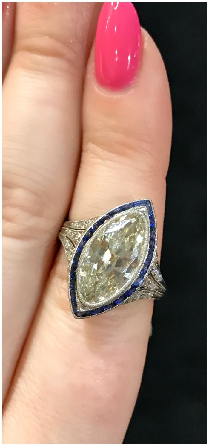 A Stunning Antique Art Deco Engagement Ring From Dk Bressler Seen At The  Original Miami