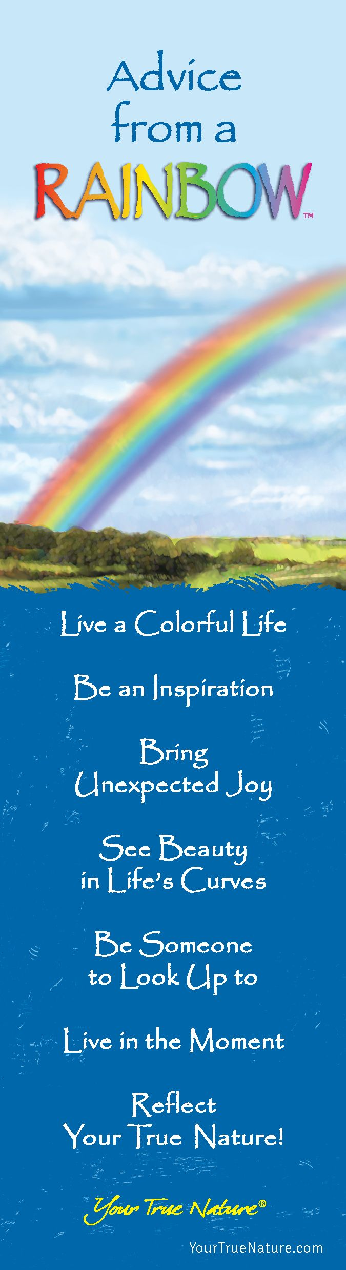 """Mothering Advice from a Rainbow: """"Be Someone to Look up to."""" Your True Nature"""