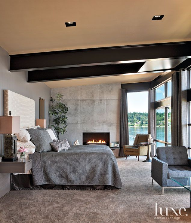 A Striking, #modern Homeu0027s Master Suite. See More At Www.luxesource.