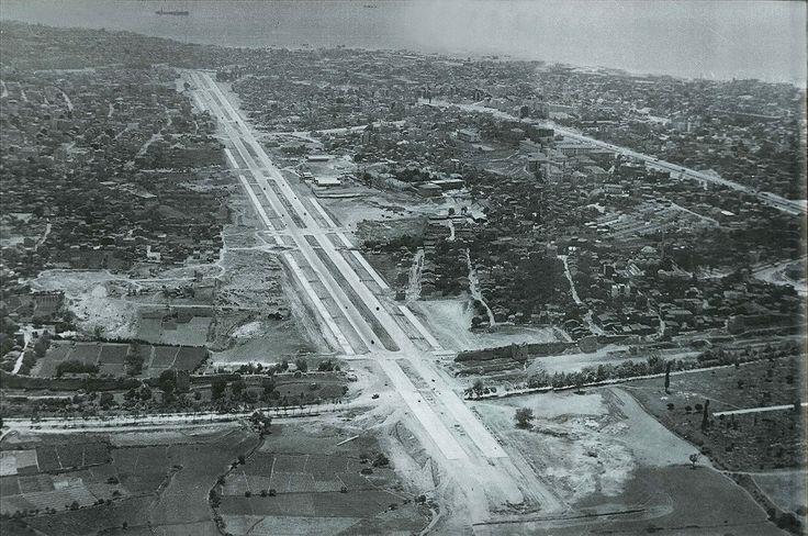 Vatan Caddesinin son aşamasından 1959 yılına ait bir hava fotoğrafı. (Çapa-Cerrahpaşa-Samatya, Aksaray semtleri)