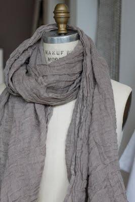 linen scarf