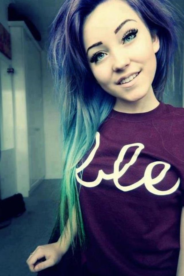 She's very pretty and i love her hair, even though i wouldn't get it myself.