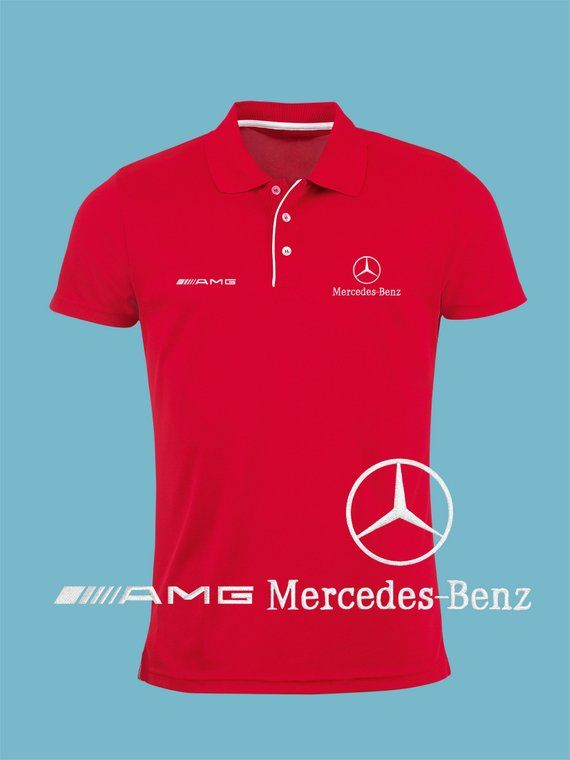 37161ab11 Mercedes Benz AMG Polo T Shirt EMBROIDERED Slim Fit Black Navy Royal ...