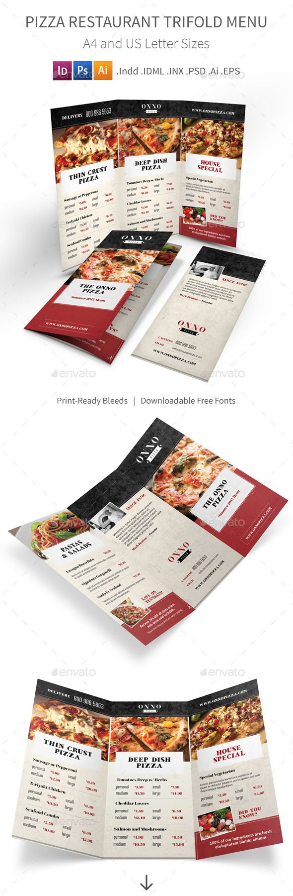 455 best trifold restaurant menu template images on pinterest pizza restaurant trifold menu pronofoot35fo Choice Image
