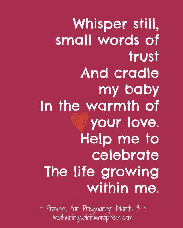 Prayers for Pregnancy | Mothering Spirit - Month 3