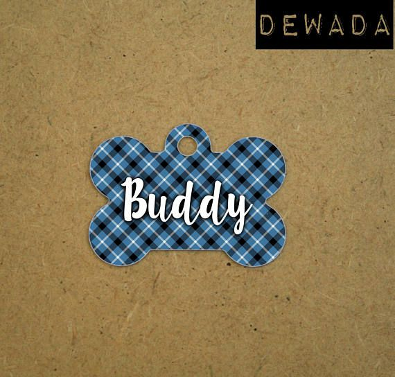 Blue Dog tag personalized