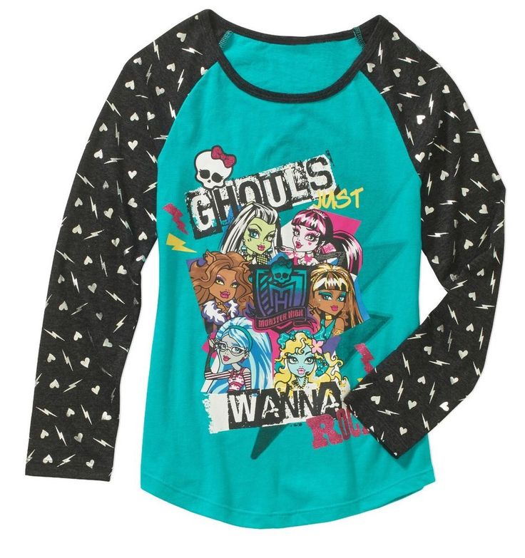 MONSTER HIGH GIRL'S Jersey Top SHIRT SIZE 14/16 NEW Clothing  | eBay