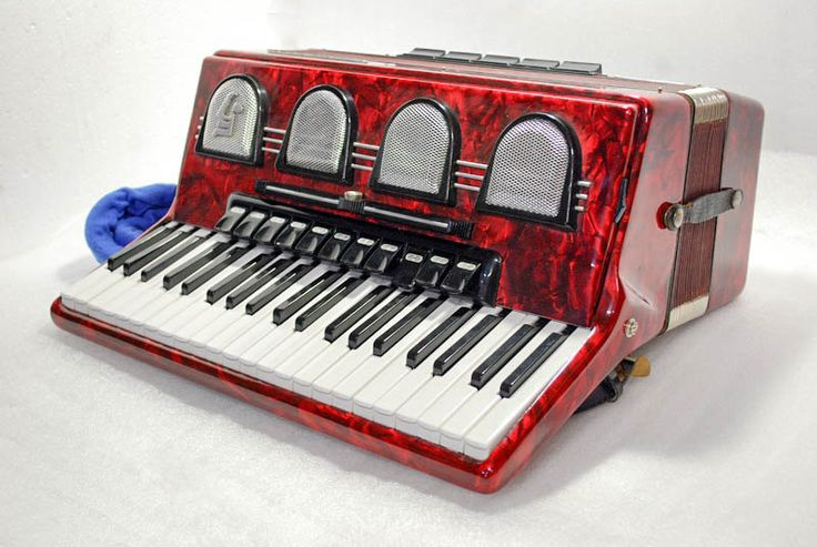 Accordion Weltmeister Stella Piano Accordion 120 Bass Button German Acordeon Vintage Musical Instrument Accordeon Accordian with Case