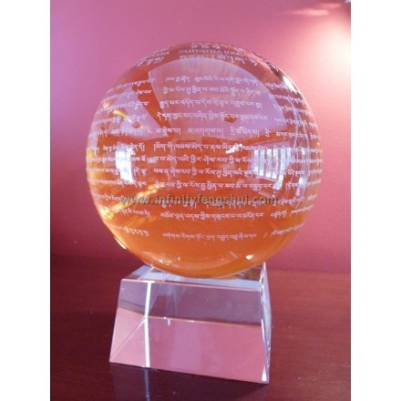 Heart Sutra Yellow Crystal Ball - Infinity Feng Shui - The better place  Feng Shui  Pinterest ...