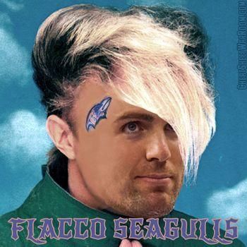 Funny Fantasy Football Logo of Baltimore Ravens' Joe Flacco
