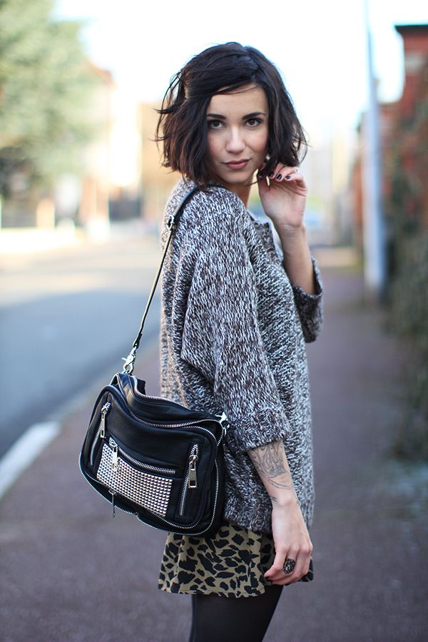 coline of etpourquoipascoline | gemmyo ring, minelli boots, monshowroom sweater, school rag skirt, urban outfitters bag