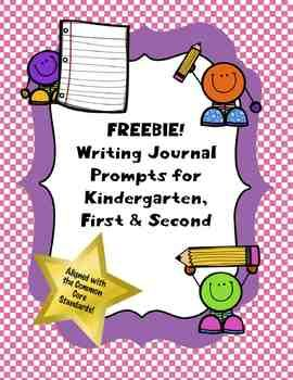 FREE Writing Journal Prompts for Kindergarten, First and Second. The prompts are Common Core based.  There are at least 5 prompts for each grade, as well as one editable prompt!