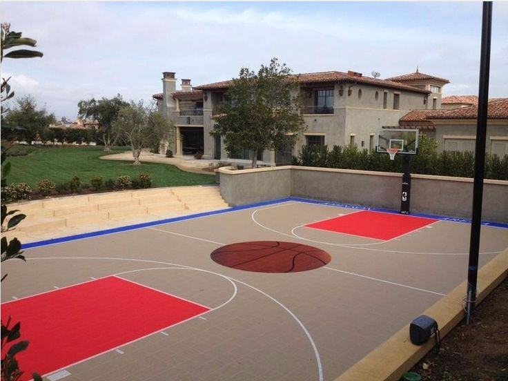 26 best backyard courts images on pinterest backyard for Sport courts for backyards