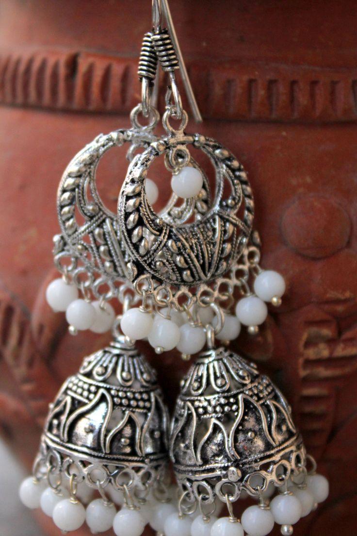 German Silver Jhumkis | Drop me a mail at deepikagill@gmail.com to order <3