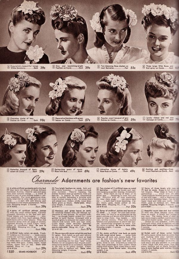 A beautiful array of 1940s hair accessories. #vintage # ...
