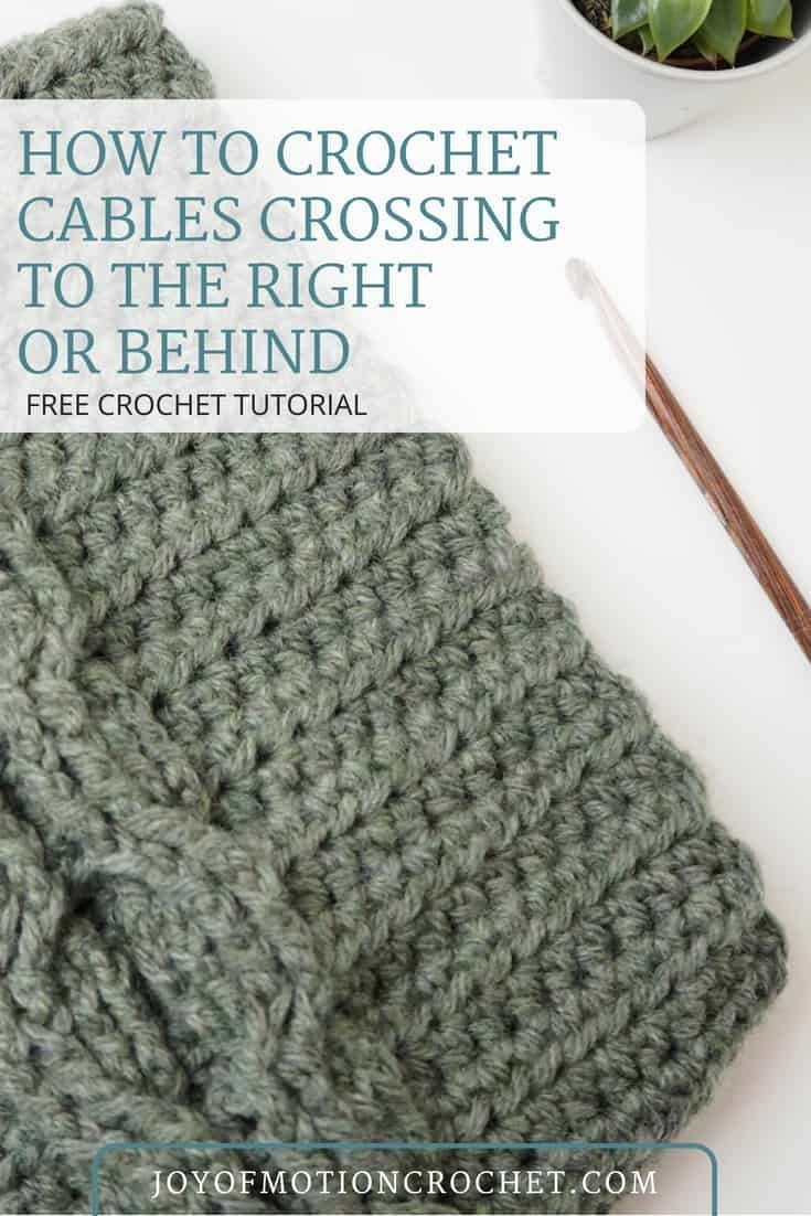 How To Crochet Cables Crossing To The Right Or Behind Free Crochet