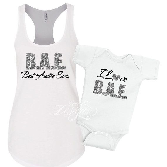 Aunt and Me Shirts - Tshirt | Shirt | Matching | Auntie | Niece | Nephew | BAE | New Born | Mommy and Me | Best Auntie Ever | New Baby