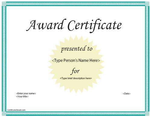 40 best Business Certificates Templates Awards images on - award certificates templates