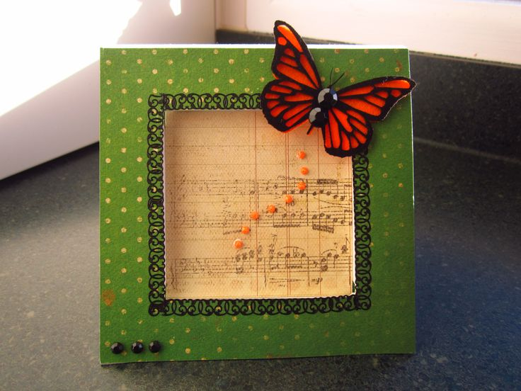 A simple card embellished with a beautiful butterfly from Imagine if.