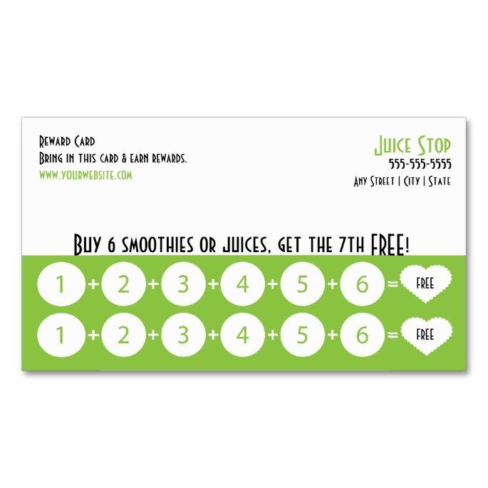 reward card template
